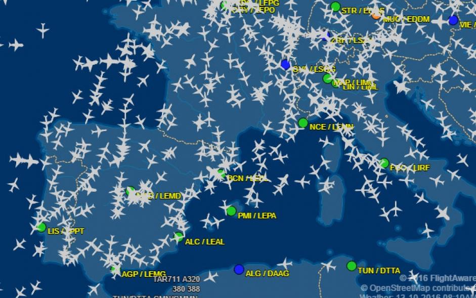 Mapa Vuelos En Directo.Mapa Del Trafico Aereo De Todo El Mundo En Tiempo Real